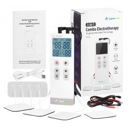 Slim TENS Machine & EMS & Massage 3 in 1 Combo Unit - Built-in Battery