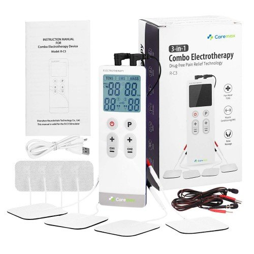 Slim TENS & EMS & Massage 3 in 1 Combo Machine - Built-in Battery