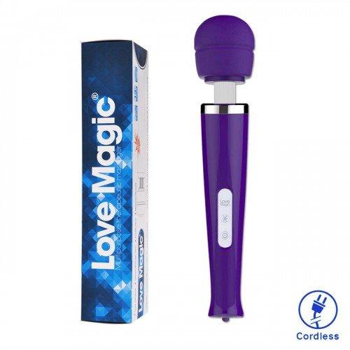 Cordless Magic Wand Massager Body Personal Vibrator-Purple